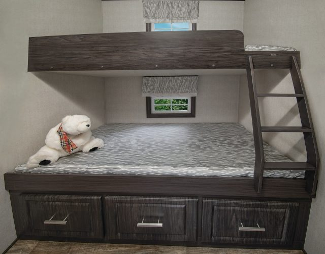 Northlander Escape Park Model | Second Bedroom features bunk beds for the kids
