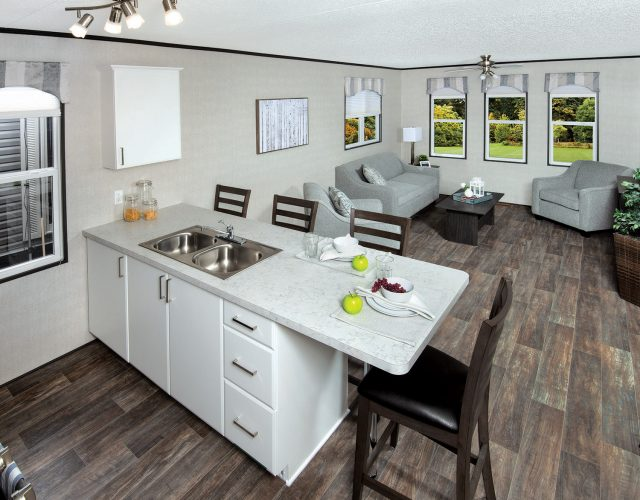 Northlander Reflection Park Model Cottage | Open Concept Living Room & Kitchen