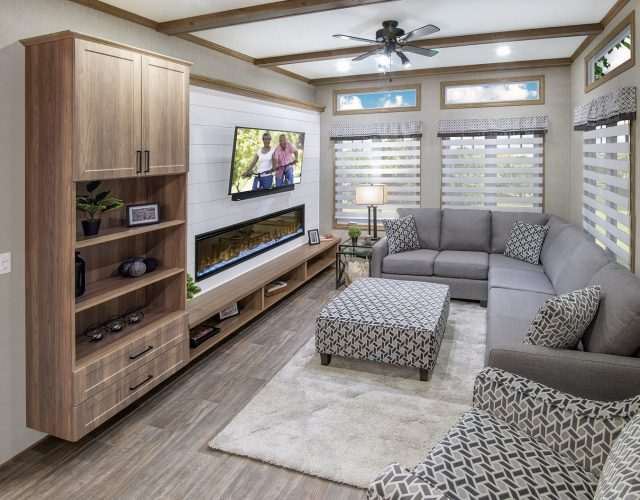 Northlander Escape All Season Park Model | Comfortable and Elegant Living Room