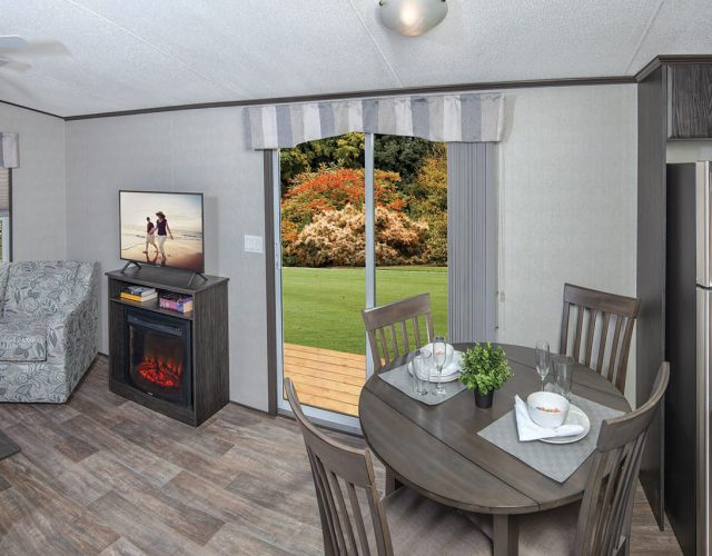 Northlander Reflection Park Model Cottage | Patio off Living Room